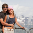 Young couple high in the mountains — Stock Photo #2601303