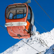 Empty gondola lift — Stockfoto