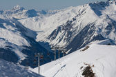 Ski-oord in de Alpen — Stockfoto