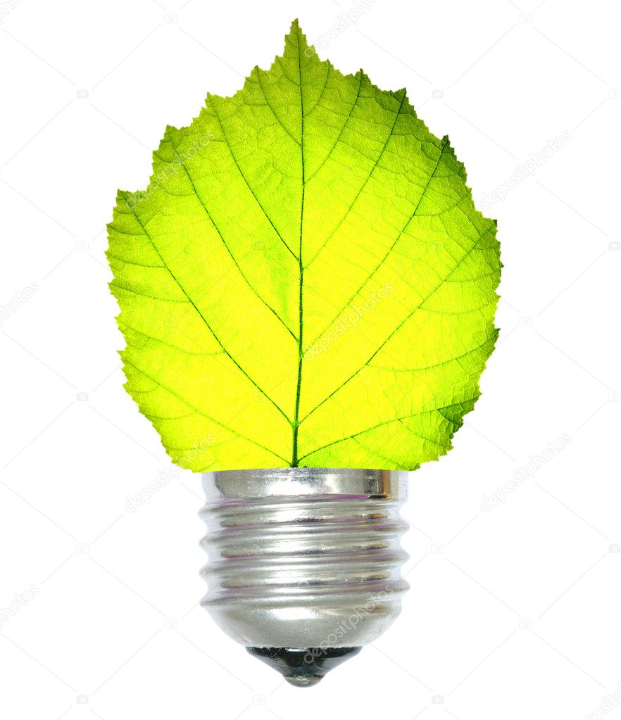 Green energy concept on white — Stock Photo #1054600