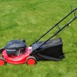 Lawn mower in grass — Stock Photo
