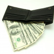 Money in wallet — Stock Photo