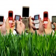 Stock Photo: Mobile phones