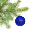Ball on christmas tree — Stock Photo #1068849
