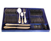 Complete silverware set — Stock Photo