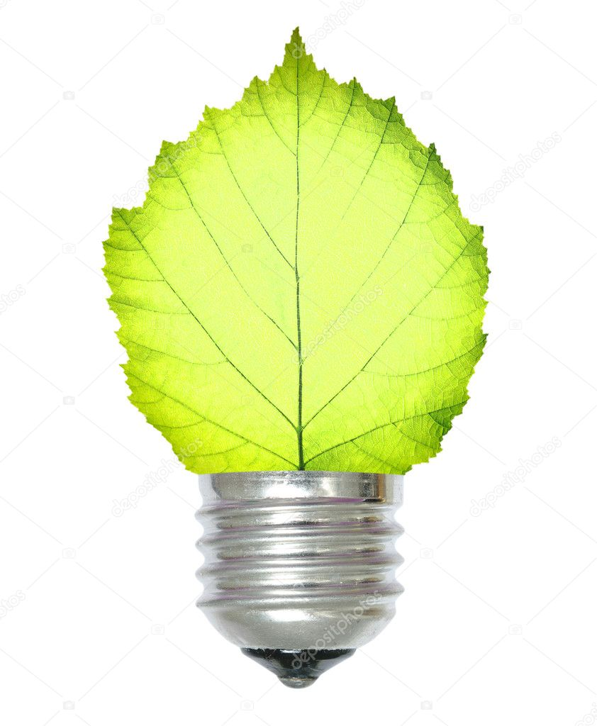 Green energy concept on white — Stock Photo #1067968