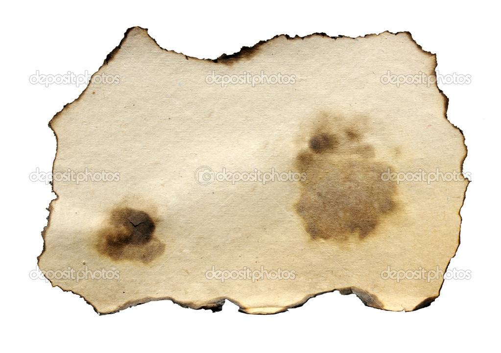 Burnt paper over white background — Stock Photo #1068699