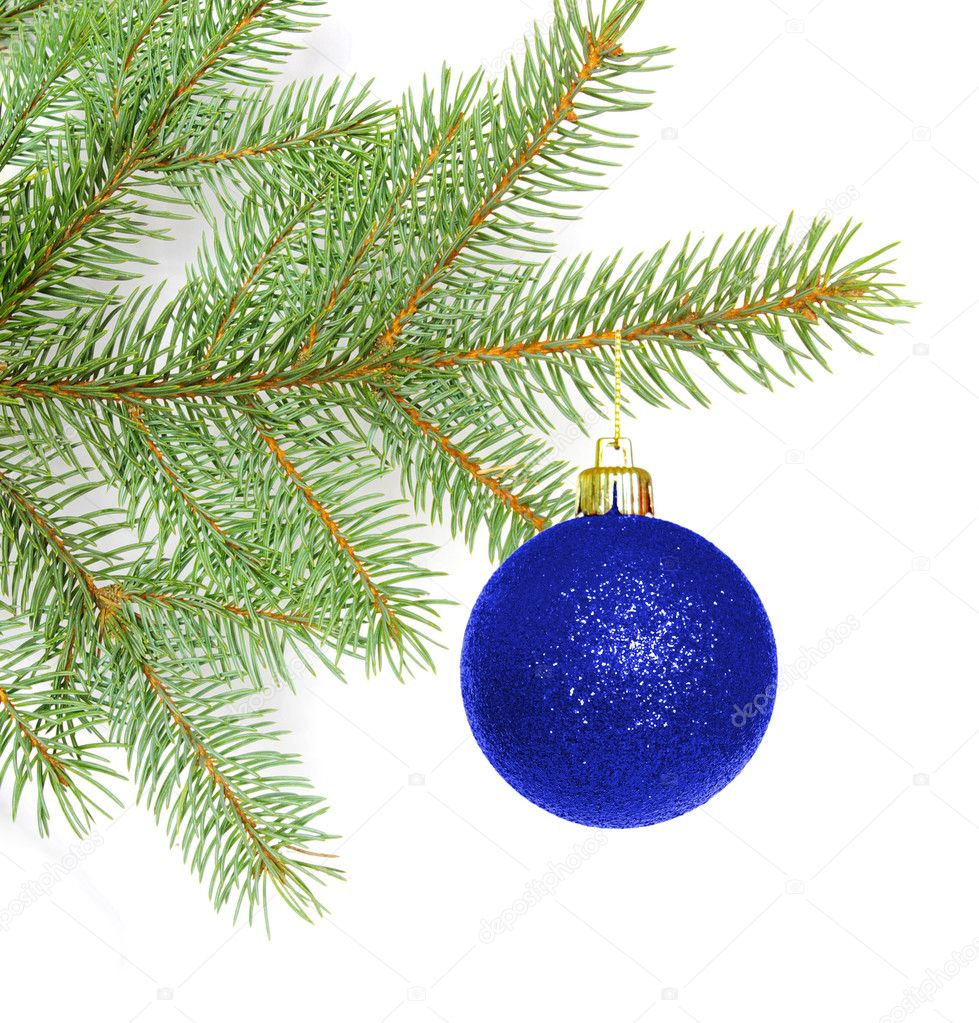 Beautiful ball on christmas tree  Stock Photo #1068849
