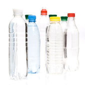 Plastic bottles of mineral water — Stock Photo