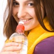 Stock Photo: Woman drinking water