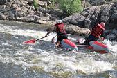 Kayaking. Rafting. — Stock Photo