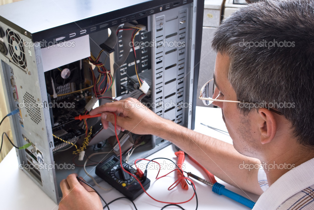  IT Engineer Working  Stock Photo #1080230