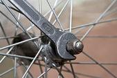 Detail of bike — Stock Photo
