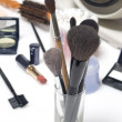 Stock Photo: Set of professional makeup brushes