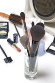 Set of professional makeup brushes — Stock Photo