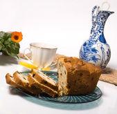 ケーキと紅茶 — ストック写真