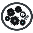 Stock Photo: Gears icons