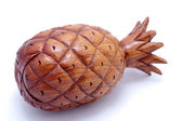 Wooden pineapple — Stock Photo