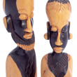Figurine of the woman and man, Africa — Stock Photo