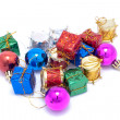 Small Christmas ornaments for a toy tree — Stock Photo #1295280