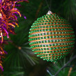 Decorated Christmas tree closeup — Stock Photo #1495573