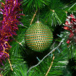 Decorated Christmas tree closeup — Stock Photo #1495604