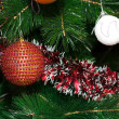 Decorated Christmas tree closeup — Foto de Stock