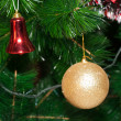 Decorated Christmas tree closeup — Stock Photo #1495690