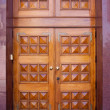 Front wooden door — Stock Photo