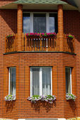 Windows of house — Stock Photo