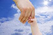 Newborn Hand — Stock Photo
