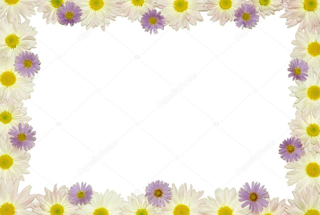 Flower frame with space for copy — Stock Photo #1253828