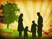 Rodzina wektor — Zdjęcie stockowe