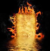 Burning paper — Stock Photo