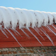 Big icicles — Stock Photo