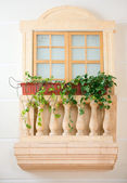 Decorative balcony — Stock Photo
