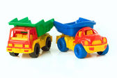 Toy trucks — Stock Photo