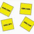 Currency Pairs — Stock Photo