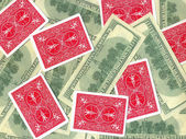 Banknotes and cards — Stock Photo