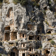 Rock-cut tombs in Myra - Stock Photo