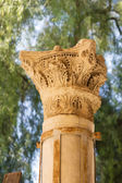 Ancient column of Saint Nicholas church — Stock Photo