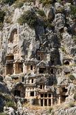 Rock-cut tombs in Myra — Stock Photo
