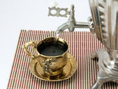 Tea from a samovar — Stock Photo