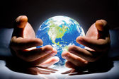 The Earth is in your hands — Stock Photo