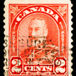 图库照片: Vintage Canadistamp