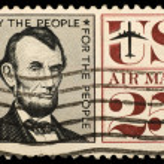 Vintage US postage stamp — Stock Photo #1096692