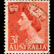 Vintage Australian postage stamp — Stock Photo