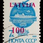 USSR-Latvia vintage postage stamp — Stock Photo #1096722