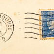 图库照片: Vintage French postage stamp