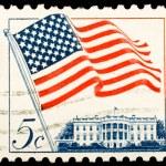 Vintage US postage stamp — Stock Photo